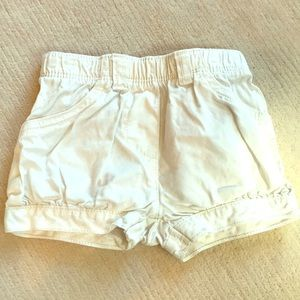 White Infant Shorts by Carter's size 9 mos